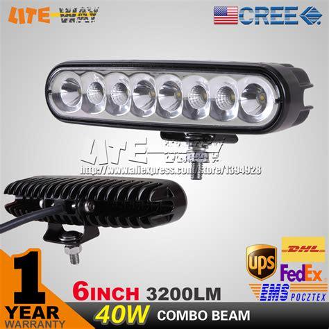 40w 6inch 9 32v cree led work light mini 40w led light bar