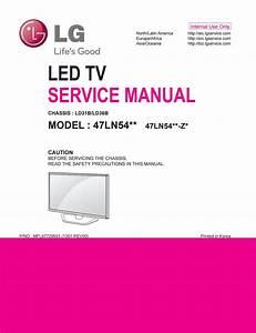 Manual De Servi U00e7o Tv Lg 47ln540v  47ln542v  47ln5400