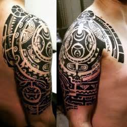 Maori Upper Arm Tattoos for Men