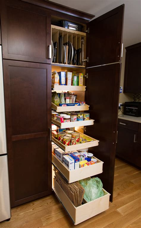 pull out kitchen storage ideas rectangle corner kitchen pantry cabinet with brown