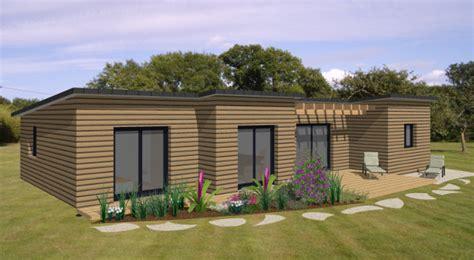 maison bois plain pied contemporaine modele maison clelia becokit maisons ossature bois