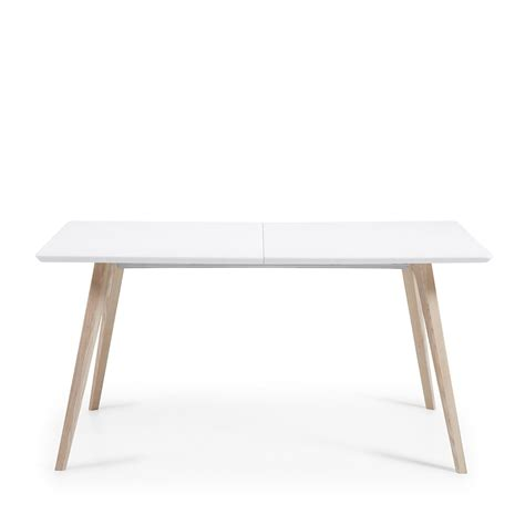 table design scandinave extensible bois laqu 233 blanc joshua by drawer