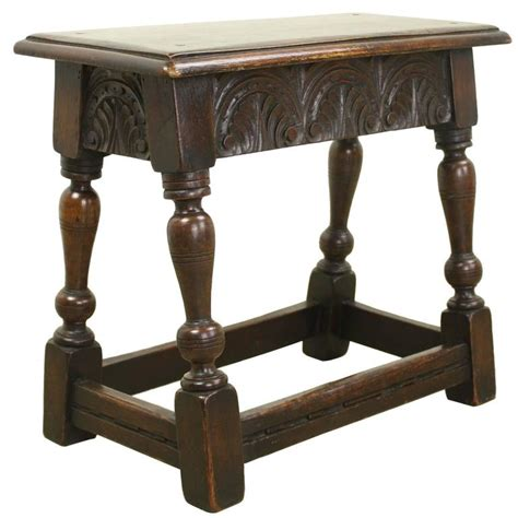 Stool For Sale - small antique carved oak foot stool for sale at 1stdibs