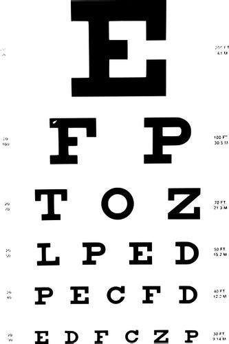 eye test chart public domain vectors