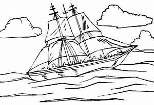 Comment Dessiner La Mer : coloriage bateau sur la mer sur ~ Dallasstarsshop.com Idées de Décoration