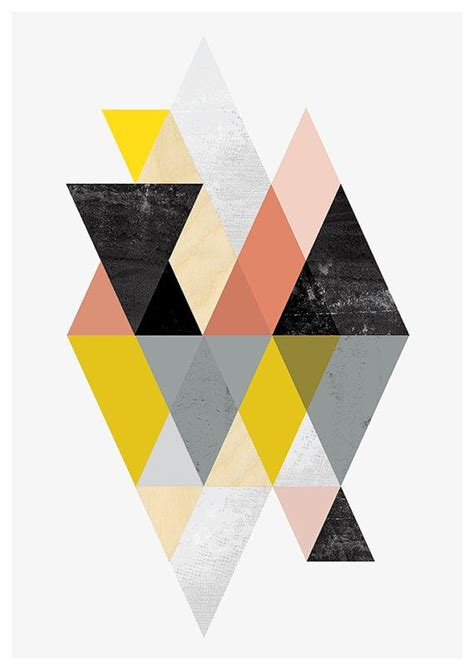 Abstract Minimalist Geometric Shapes by Geometric Print Abstract Geometric Abstract