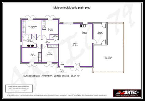 plan de maison plain pied 4 chambres gratuit plan maison plain pied 4 chambres 100m2