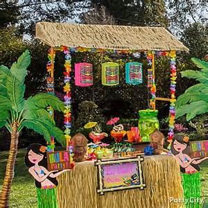 luau party raffia decorating ideas party city