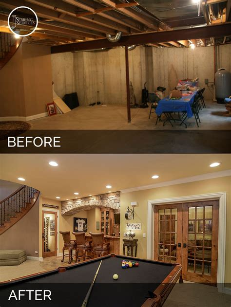 basement renovation ideas brian danica s basement before after pictures basements house and men cave