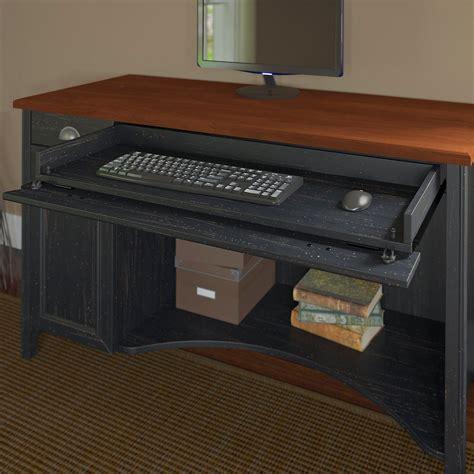 bush stanford collection computer desk antique black and cherry amazon com bush furniture stanford audio cabinet antique