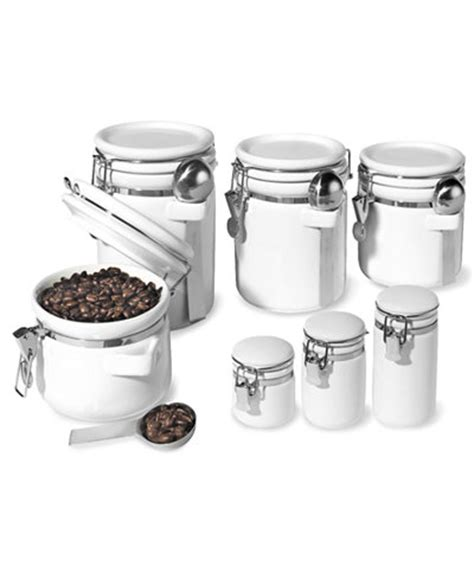 food canisters kitchen oggi food storage containers 7 piece set ceramic canisters kitchen gadgets kitchen macy s