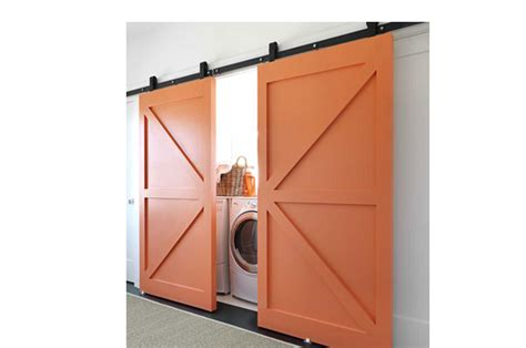 interior kitchen doors barn doors for your laundry room pretty and practical