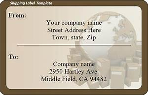 shipping label template word excel formats With excel shipping label template