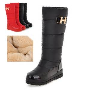 winter boots boots mid calf boots big size 9 10 11 12 platform wedge jpg