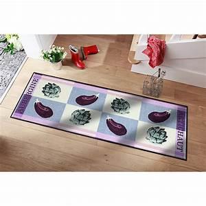 Tapis De Cuisine Design : ce tapis de sol sp cial cuisine au design exclusif au motif aubergine prot ge sols et ~ Teatrodelosmanantiales.com Idées de Décoration