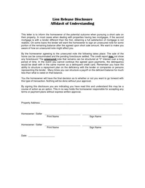 lien release letter vehicle lien release form vehicle ideas