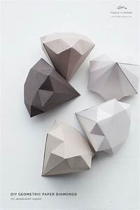 Fiddle and Spoon | DIY: Geometric Paper Diamonds | http ...