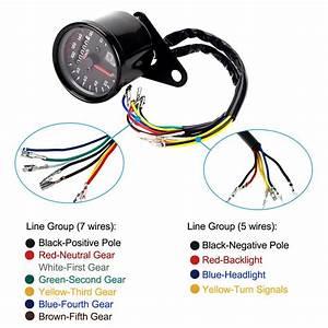Universal Motorcycle Tachometer Wiring Diagram