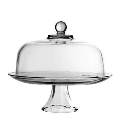 Anchor Hocking Presence Cake Stand & Dome   Fast Shipping