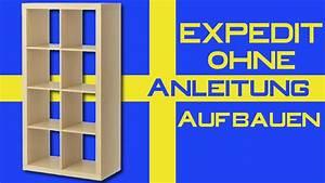 Ikea Expedit Regal Anleitung : ikea expedit ohne anleitung aufbauen youtube ~ Markanthonyermac.com Haus und Dekorationen