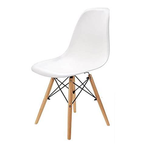 lot 4 chaises blanches wv leisuremaster lot de 4 chaises blanches de salle à manger chaise de cuisine avec pieds en bois