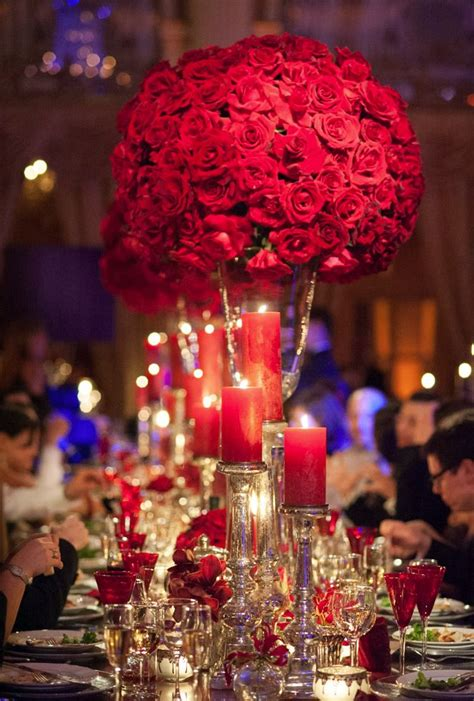 sparkling ideas  red themed wedding