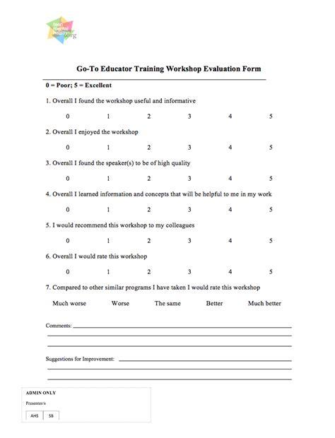 workshop evaluation form alberta