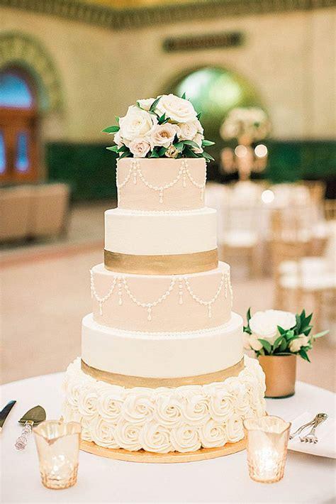 45 Simple Elegant Chic Wedding Cakes Metallic Wedding