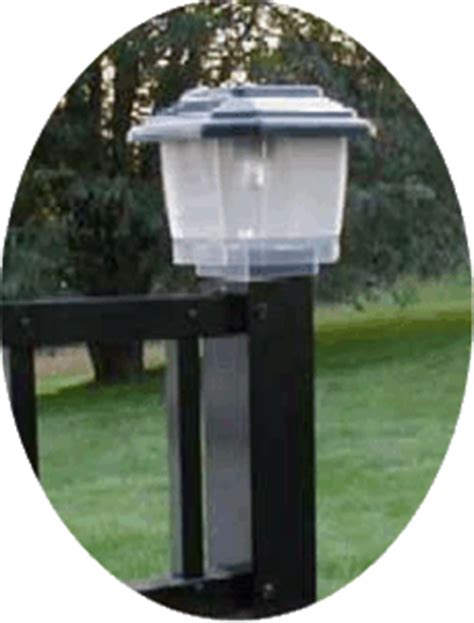 fence post solar lights
