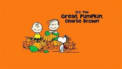 Charlie Brown Pumpkin Background Desktop Halloween Peanuts