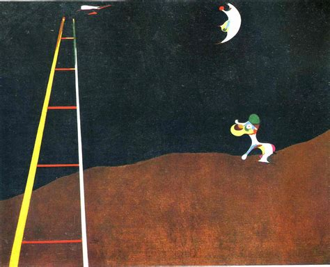 dog barking   moon joan miro wallpaper image