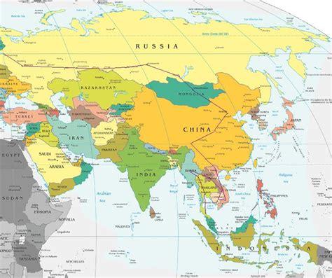 Mapa De Europa Y Asia