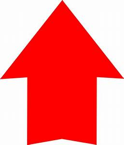 Plain Red Arrow Up Clip Art at Clker.com - vector clip art ...