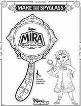 Mira Coloring Detective Royal Spyglass Sheets Sheet Pages Disney Chikku Mikku Enjoy Three These sketch template
