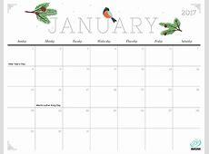 Cute and Crafty 2017 Printable Calendar iMom