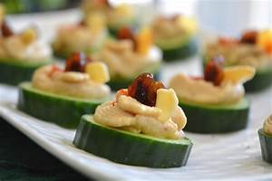 cucumber hummus canape my signature dish With canapé