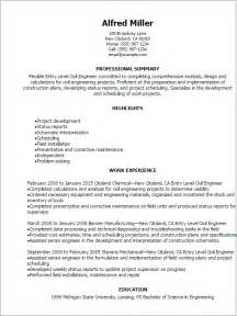 professional entry level civil engineer resume templates to showcase your talent myperfectresume