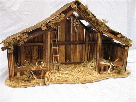 woodtopia nativity stable large willow tree stables