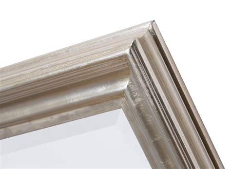 spiegel mit silbernen rahmen brescia spiegel mit modernem silbernem rahmen kunstspiegel de