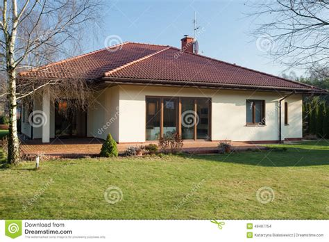 bungalow   autumn stock photo image