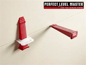 Perfect level mastertm precise tile leveling system wall for Floor tile levelling spacers