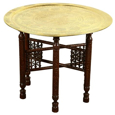 antique brass side table antique arabic brass tray side table at 1stdibs