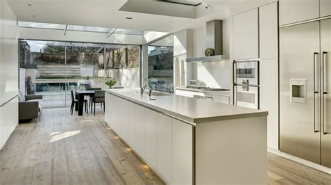 townhouse kitchen design ideas townhouse with modern extension by dos architects 6313