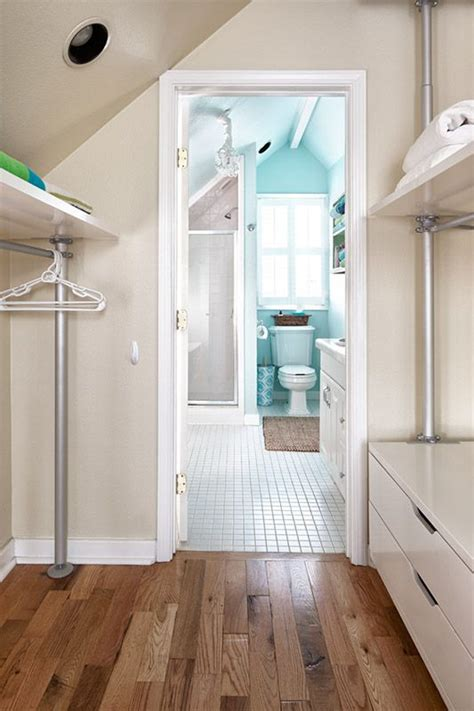 closet attic bathroom and bathroom on