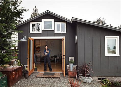 tiny cottage  seattle  sq ft  modern  rustic