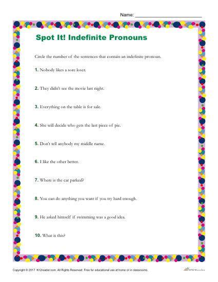 sentences   indefinite