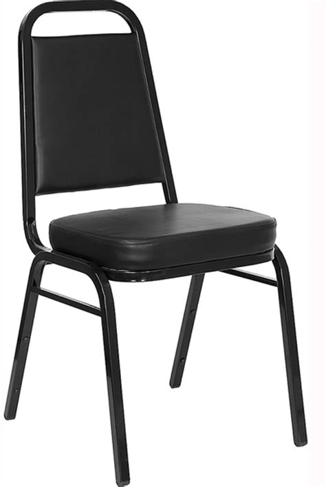 black vinyl stack able banquet chair