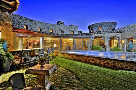 tuscan style estate   car garage  scottsdale az