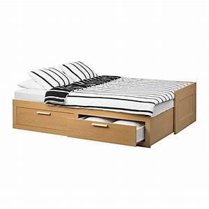 Ikea Tagesbett Brimnes : brimnes day bed frame with 2 drawers oak effect 80x200 cm ikea ~ Watch28wear.com Haus und Dekorationen