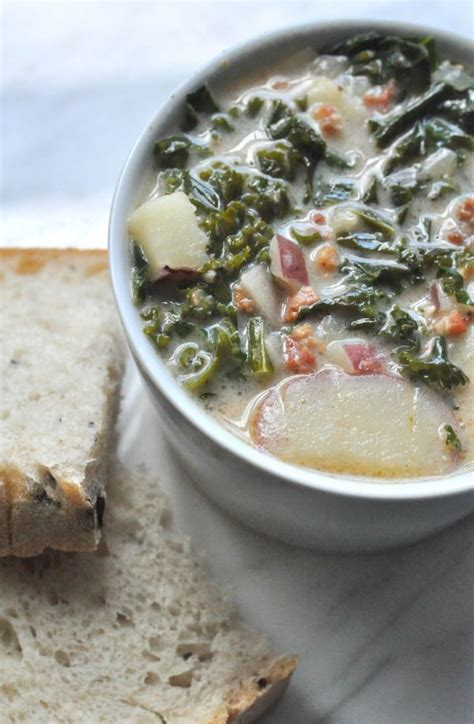 Olive Garden Sausage Soup - sausage and kale soup dining with